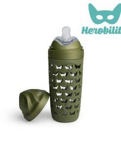herobility_eco-line_baba környezetbarát cumisüveg _320ml_terep_zöld