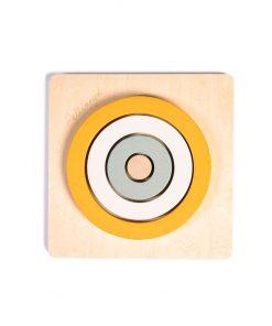 Pellianni Round Puzzle - Mustár